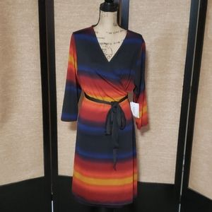 LuLaRoe Michelle Wrap Dress. Slinky. NWT 2XL